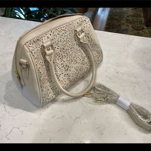 Winter white purse